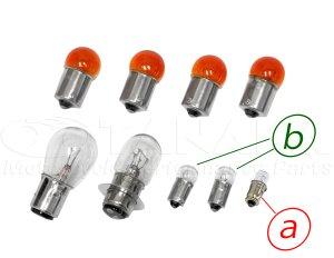 画像1: スーパーカブC50/70カブ90用12V電球セット オレンジウインカー電球