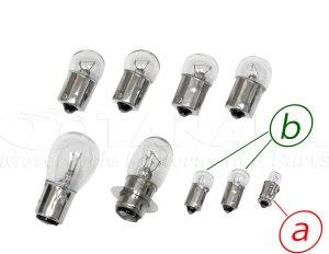 画像1: スーパーカブC50/70カブ90用12V電球セット クリアウインカー電球