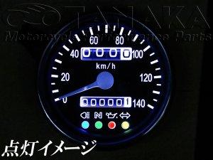画像2: 汎用(12V) 60mmスピードメーター ブラックフェイス