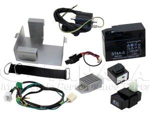 画像1: 【LEDウインカー専用】6Vダックス用12Vエンジン換装 ハーネスフルセット