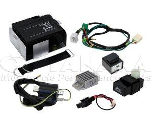 画像1: 【LEDウインカー専用】6Vシャリィ用12Vエンジン換装 ハーネスフルセット