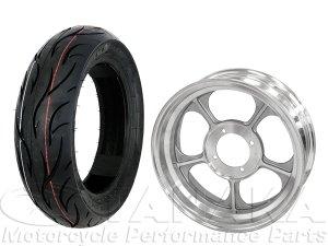 画像1: モンキー用12インチアルミキャストホイール&DUROタイヤ130/70-12タイヤセット
