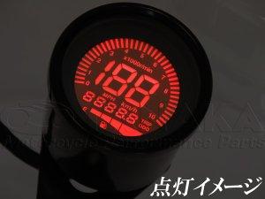 画像2: 汎用(12V) 60mm デジタルスピードメーター