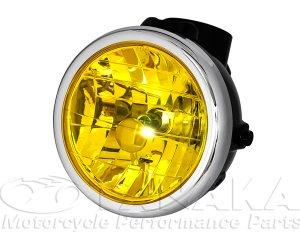 画像1: モンキー用 マルチカットリフレクターヘッドライト ブラック・イエロー