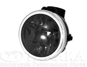 画像1: モンキー用 マルチカットリフレクターヘッドライト ブラック・スモーク