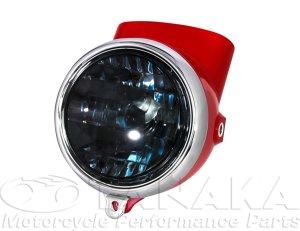 画像1: 初期型ダックス シャリィタイプヘッドライト レッド・スモーク