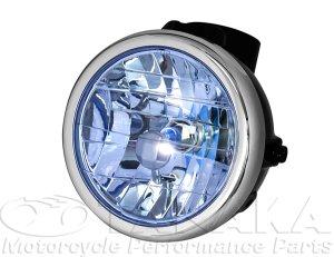 画像1: モンキー用 マルチカットリフレクターヘッドライト ブラック・ブルー