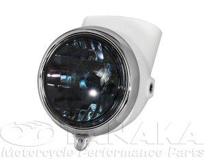 画像1: 初期型ダックス・シャリィタイプヘッドライト ホワイト・スモーク