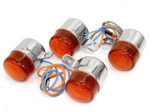 画像1: 汎用 ウインカー A(6v) オレンジ 4Lモンキータイプ