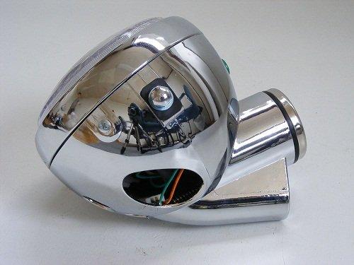 その他の写真2: モンキー用 5Lタイプヘッドライトセット  メッキ