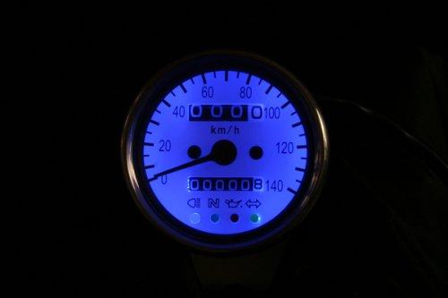 その他の写真1: 汎用(12V) 60mmスピードメーター ホワイト