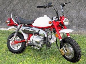 画像1: 予約★☆☆キットバイクTYPE-TL・ホワイト・レッド90ccエンジン搭載