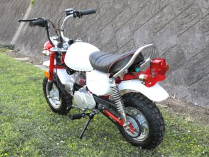 画像2: 予約★☆☆キットバイクTYPE-TL・ホワイト・レッド90ccエンジン搭載